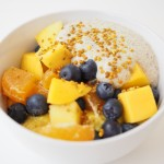 Fruit Fusion Porridge with Ginger Cream
